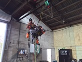 Rescue training is an essential part of NZIA's culture and Industrial rope access techniques