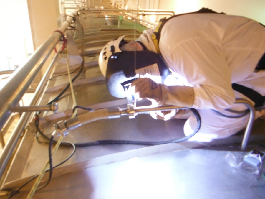 S/S tube welding - repairs and installation